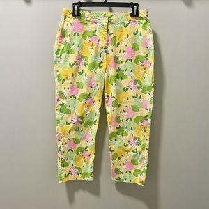 Vintage Lilly Pulitzer Cropped Lemon Print Pants